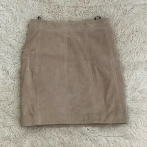 Bardot Skirts - Bardot 100% Suede Mini Skirt